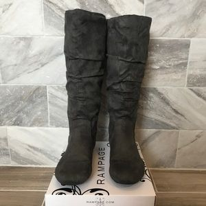 Rampage slouchy gray boots 7.5